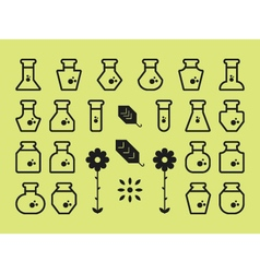 Flat Alchemy Icons vector image vector image