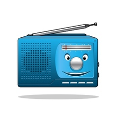 Happy retro transistor radio vector image vector image
