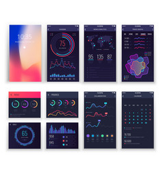 mobile application ui and smartphone ux vector image