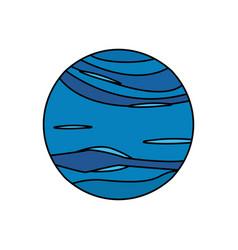 neptune planet universe galaxy vector image