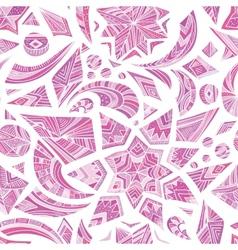 Pink aztec winter pattern vector image vector image