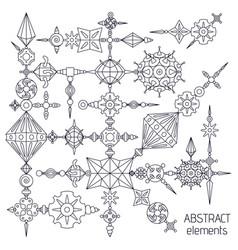 Absatract elements set vector