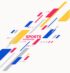 Abstract geometric background sports poster vector