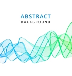 Abstract smooth transparent wavy background vector image