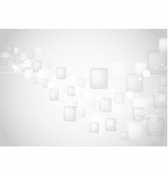 abstract white geometric shapes background vector image