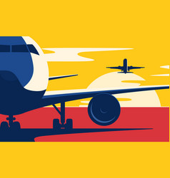 air traffic flat style the vector image