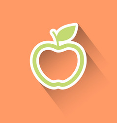 Apple flat icon vector