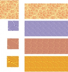 Asian traditional seamless patterns vector image