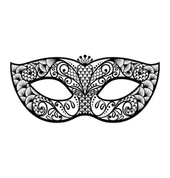 back venetian carnival mardi gras party vector image