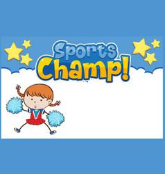 Background template design with cheerleader vector