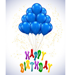 Ballon for party birthday vector
