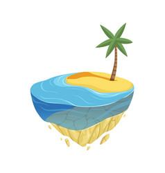 beach island isometric summer location game vector image