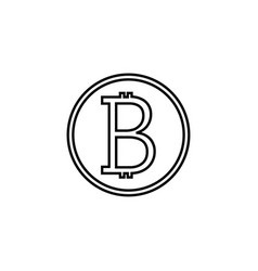 Bitcoin line icon finance and business vector