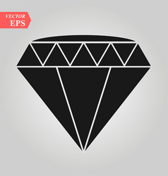 Black diamond icon white vector