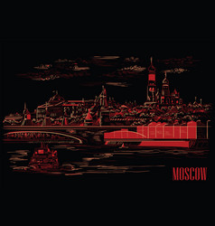 Black-red moscow-3 vector
