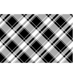 Black white check pixel pattern seamless plaid vector