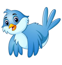 blue bird flying in the sky vector image