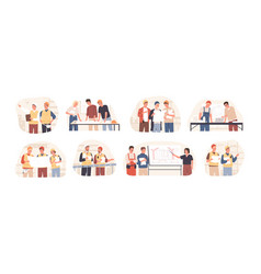 builders and architects flat vector image