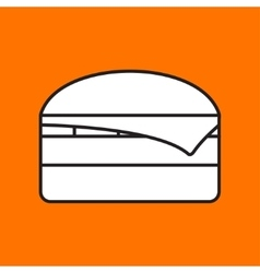 burger icon Eps10 vector image