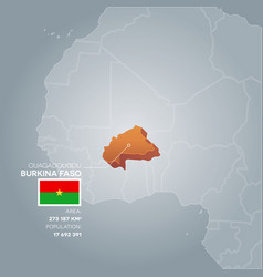 burkina faso information map vector image