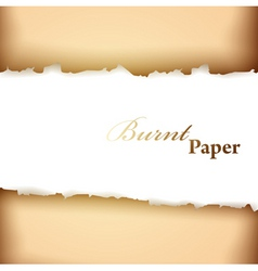 Burnt paper frame vector