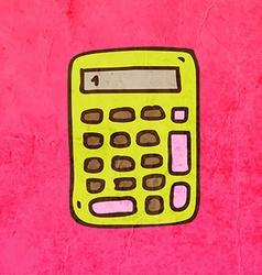 Calculator Cartoon vector