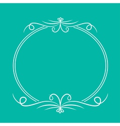 Calligraphic round frame Abstract design element vector