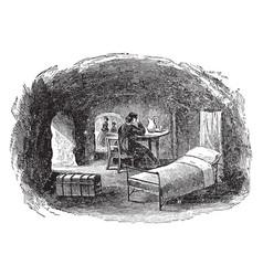 Cave life in vicksburg vintage vector