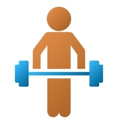 Child Power Lifting Gradient Icon vector