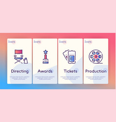 cinema production color icons set vector image