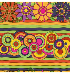 Circles flowers pattern vector