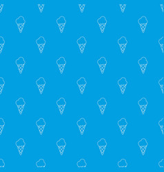 cold ice cream pattern seamless blue vector image