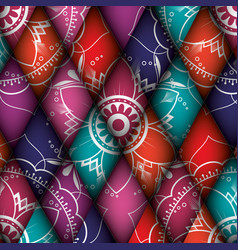 color mandala pattern background vector image