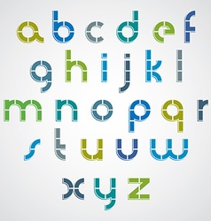 Colorful dotted line bold font with rounded lower vector image