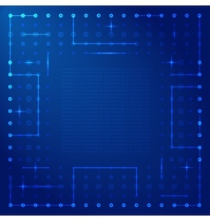 Computer processor frame vector image vector image
