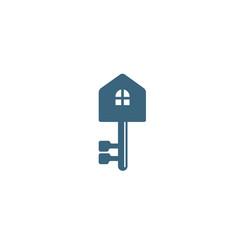 creative house key logo vector image