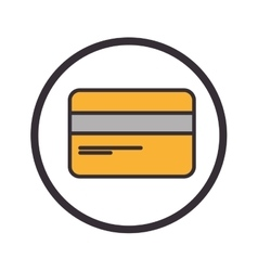 Credit card flat icon vector