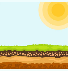 Cross section ground vector