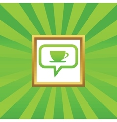 Cup message picture icon vector image