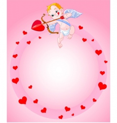 Cupid background vector