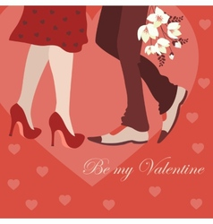 Dating man and woman greeting card vector image