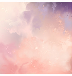 decorative watercolor background vector image