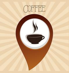 Delicious coffee cup drink vector