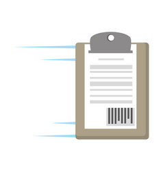 Delivery clipboard code bar icon vector