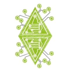 drawing computer circuit diamond electronic vector image