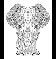 elephant in entangle style vector image