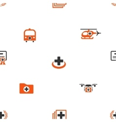 Emergency Seamless Flat Wallpaper vector image