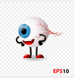 Eye eyeball human internal vision organ vector