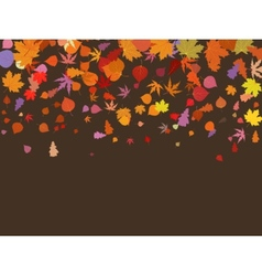 Falling multicolor autumn leaves EPS 8 vector