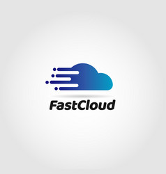 fast data cloud logo symbol icon vector image